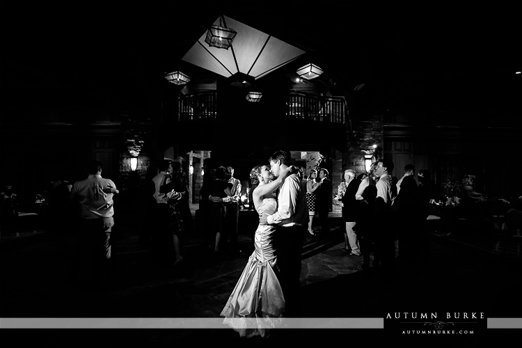 the sanctuary castle pines sedalia colorado wedding reception bride and groom dance