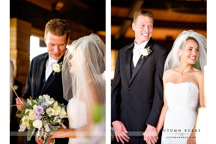 sanctuary golf colorado wedding ceremony bride and groom sedalia