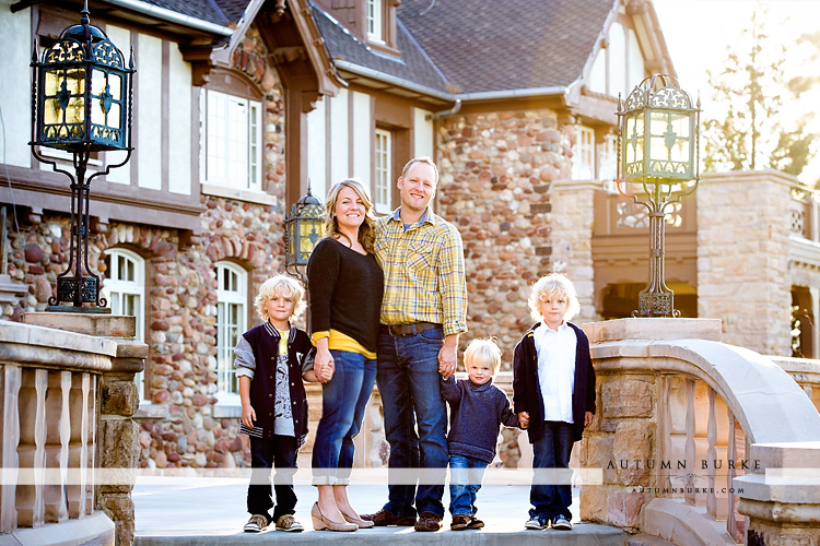 highlands ranch mansion colorado family kids portrait photography session