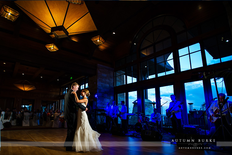the sanctuary golf club sedalia colorado wedding bride and groom first dance