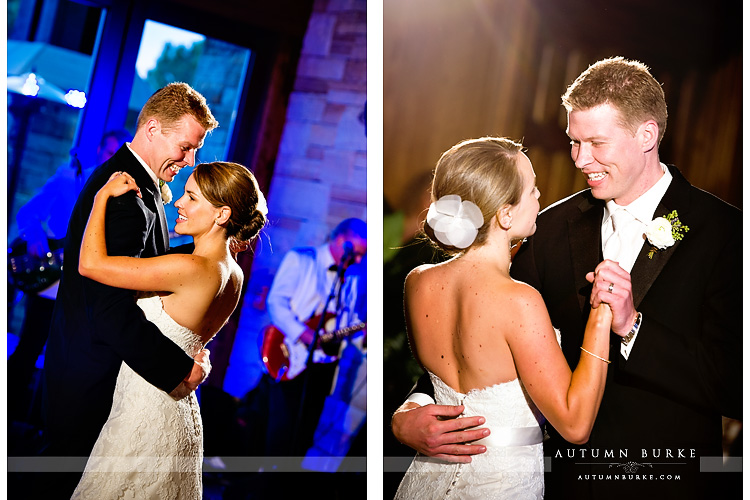 the sanctuary sedalia colorado wedding bride and groom first dance