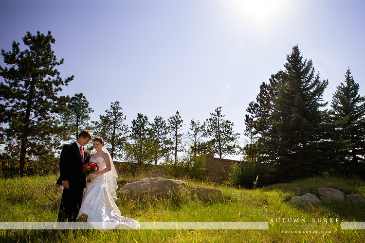 colorado bride and groom sanctuary golf course wedding first look