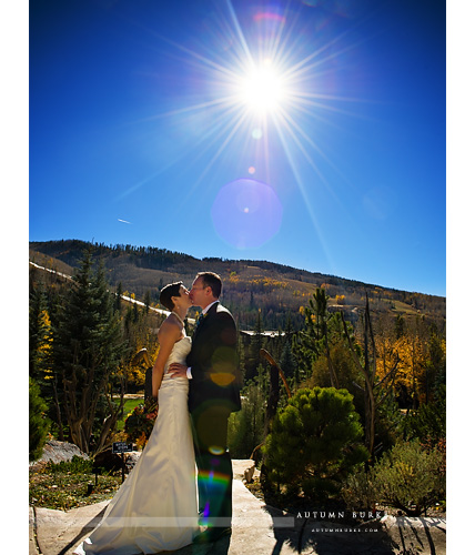 vail colorado sonnenalp wedding mountains sunflare