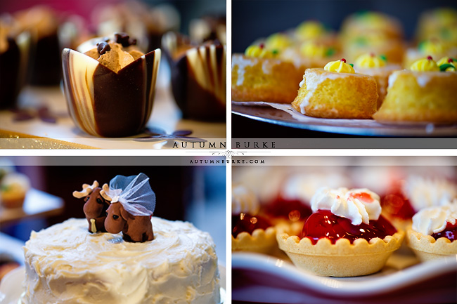 the sanctuary colorado wedding venue dessert bar wedding cake