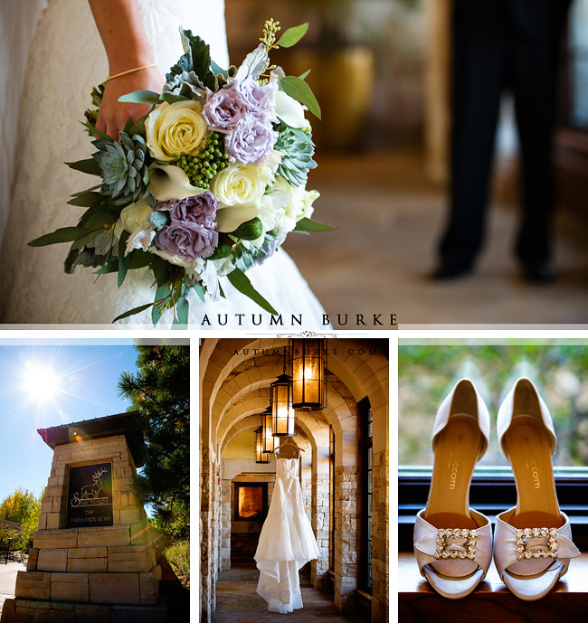 the sanctuary sedalia colorado wedding day details bridal bouquet bride gown shoes