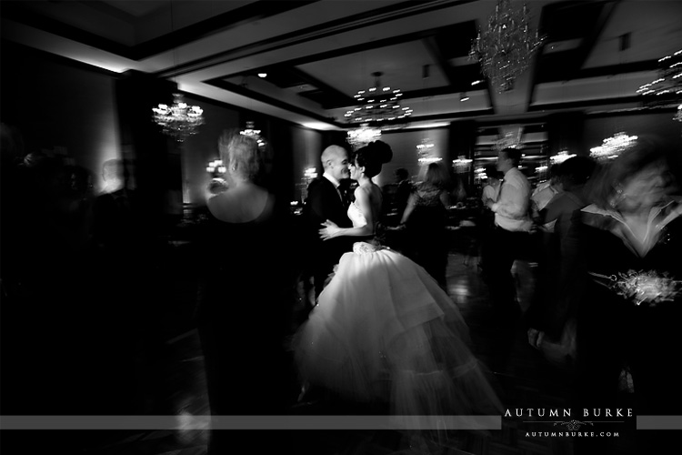 wedding at the Four Seasons vail colorado ballroom bride and groom