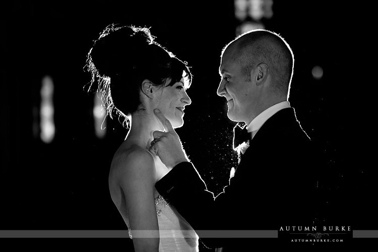four seasons hotel vail colorado wedding bride and groom