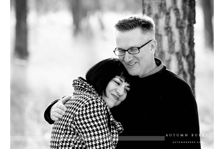 sweet couple hug denver colorado lifestyle engagement portrait