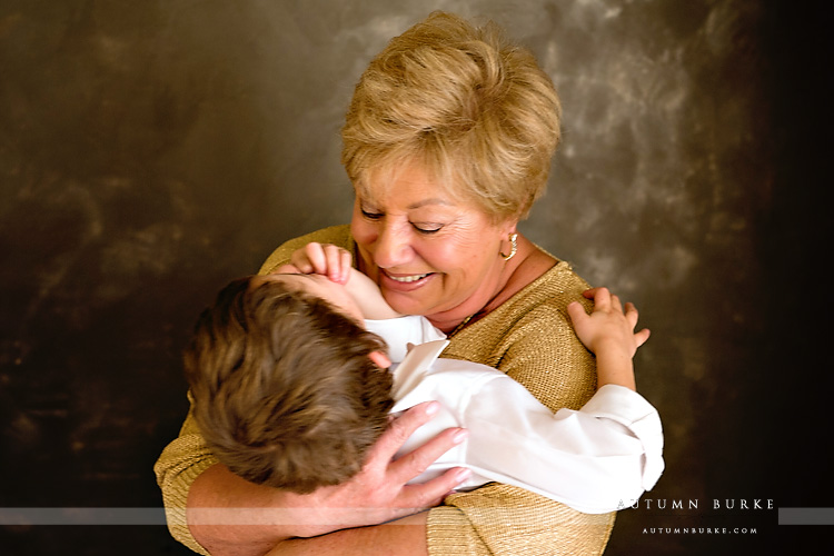 denver colorado grandmother and grandson portrait