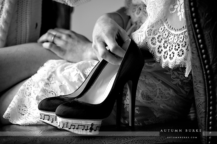 vail four seasons wedding bride details shoes
