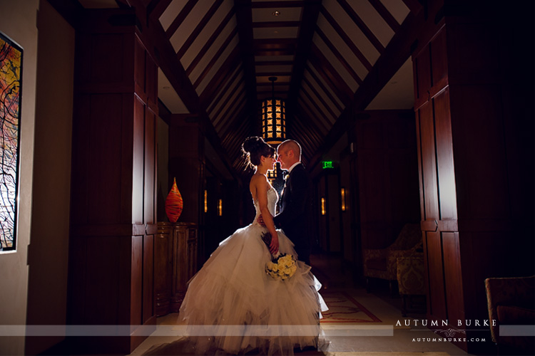 bride and groom portrait wedding four seasons vail colorado
