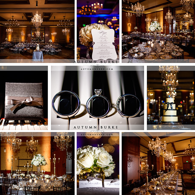 four seasons vail colorado wedding reception details ballroom chandeliers centerpieces