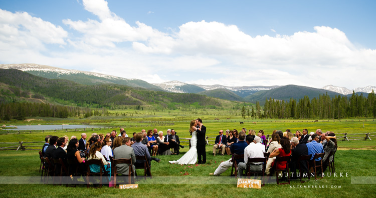 devils thumb ranch colorado mountain ceremony first kiss