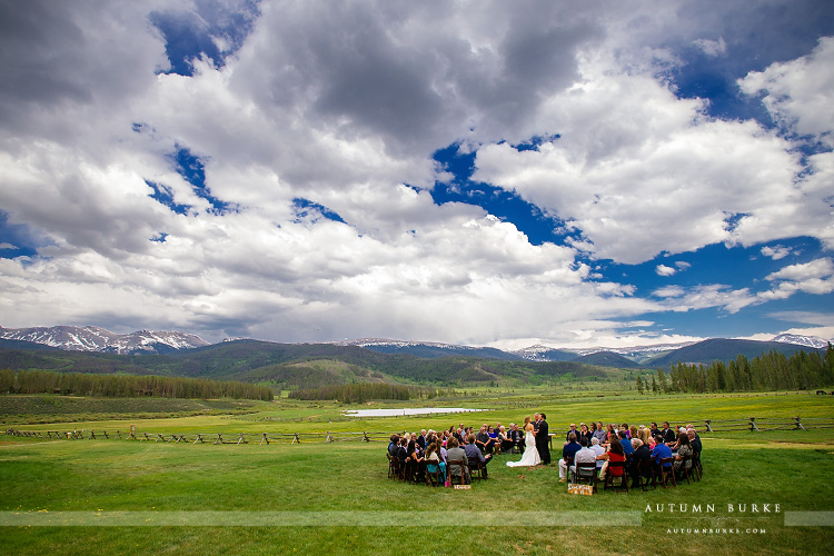 devils thumb ranch tabernash colorado mountain wedding ceremony winter park