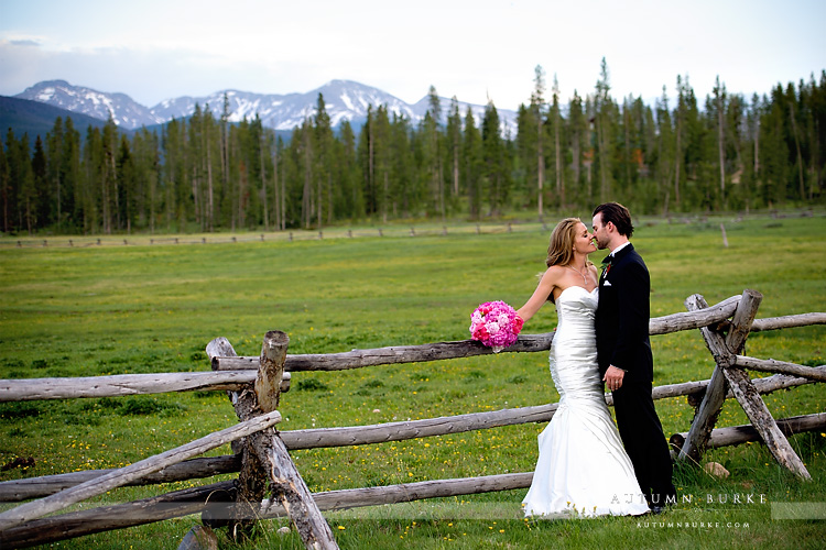 colorado mountain wedding winter park devils thumb ranch bride and groom