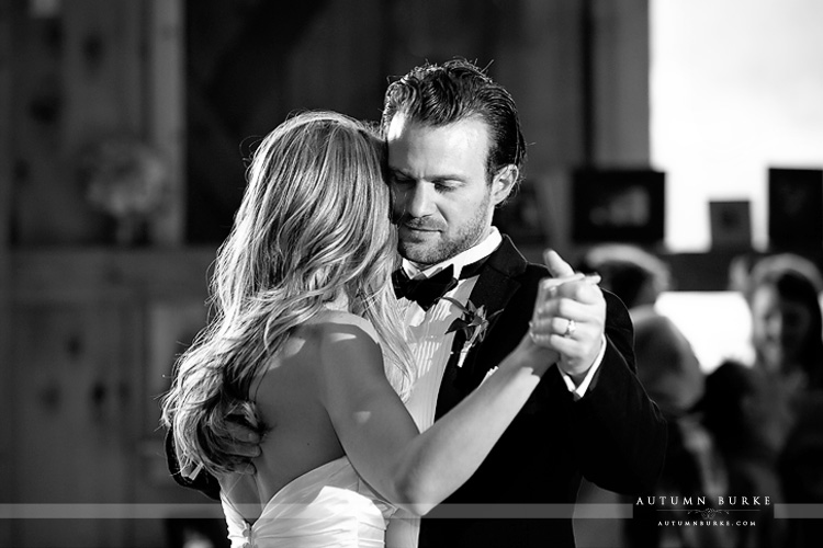 devils thumb ranch colorado mountain wedding romantic first dance groom