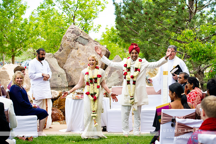 colorado indian hindu wedding ceremony westin westminster bride and groom