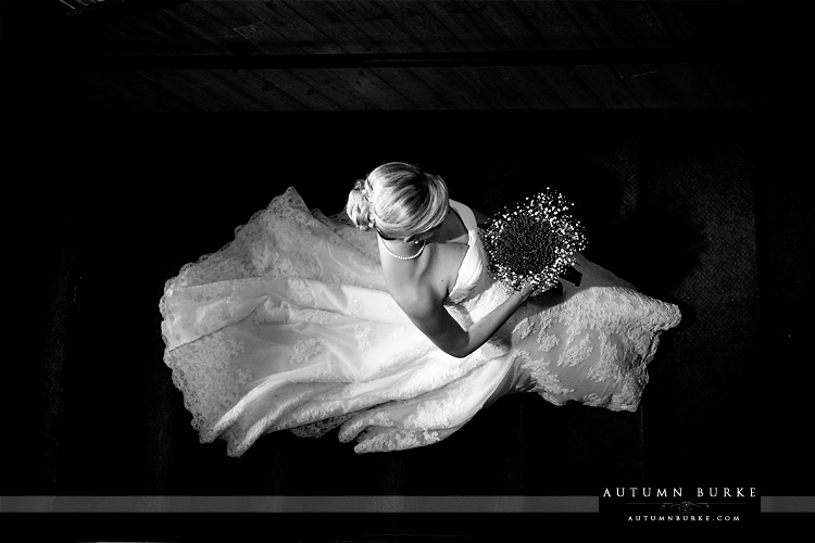colorado wedding breckenridge ten mile station bride descends staircase