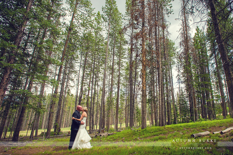 ten mile station breckenridge wedding first look bride and groom forest