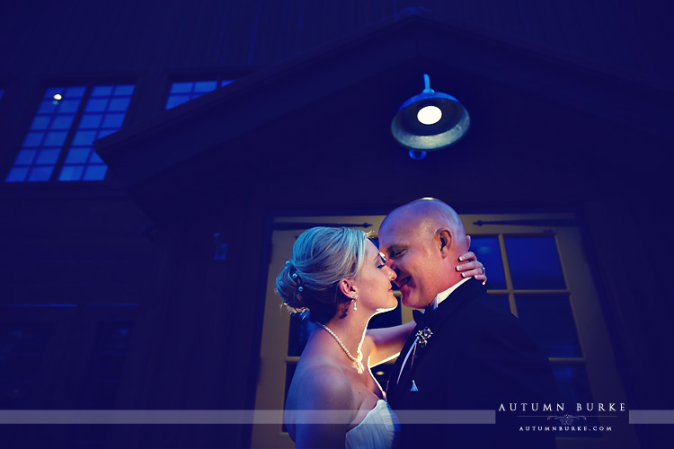 breckenridge colorado ten mile station wedding night shot