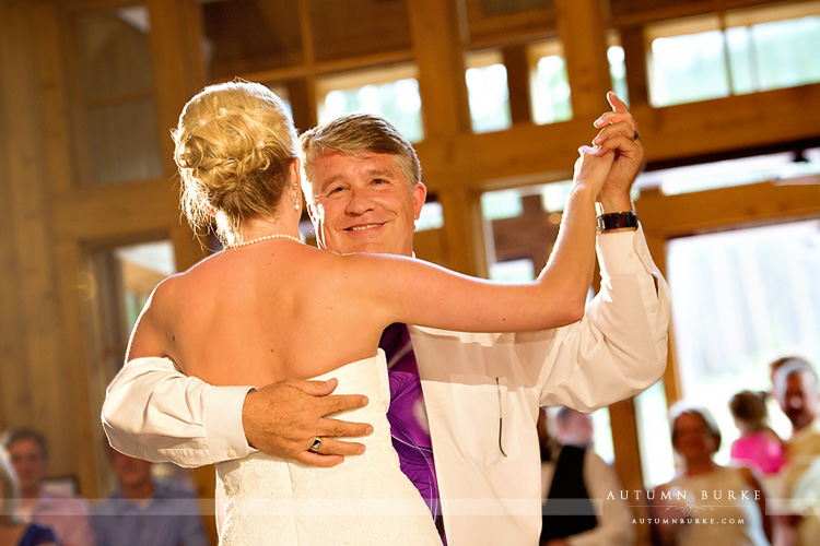 father daughter dance ten mile station wedding breckenridge colorado