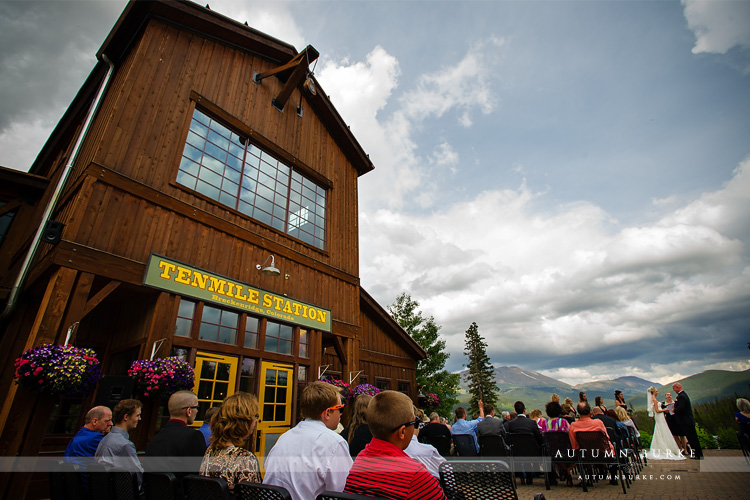 colorado mountain wedding ceremony outdoors ten mile station breckenridge