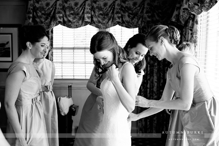 bride getting ready wedding preparations denver country club