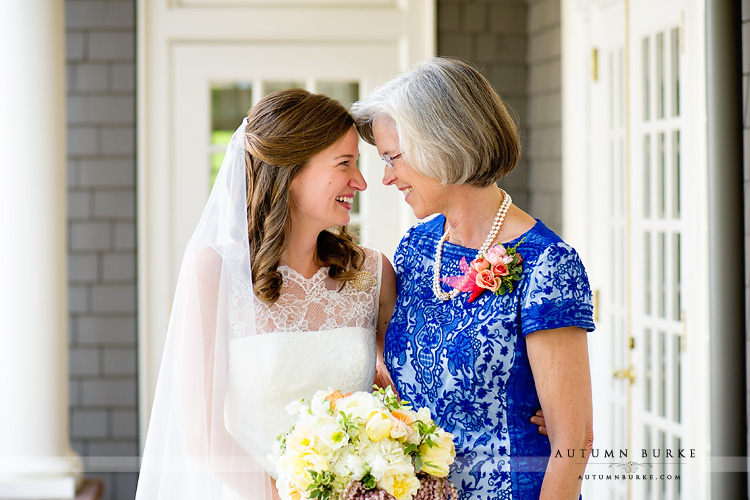 bride sweet moment with mother of the bride emotion denver country club wedding