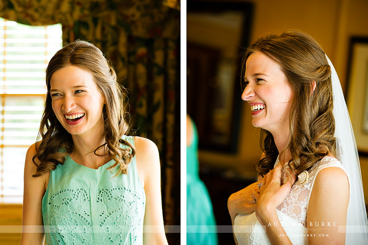 bridal preparations getting ready emotional moments denver country club colorado wedding