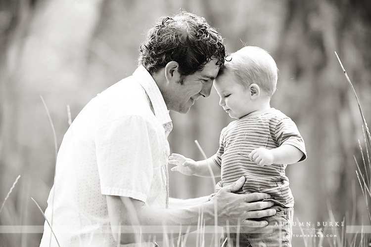 colorado family photographer baby and daddy portrait