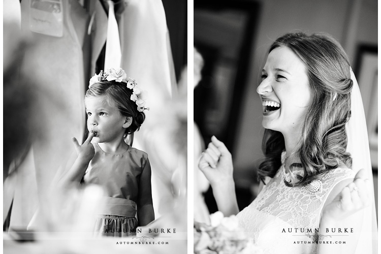 colorado flower girl and bride getting ready preparations denver country club wedding