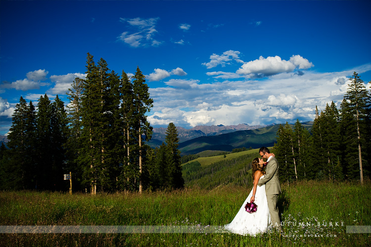beaver creek spruce saddle allies cabin mountain wedding bride and groom
