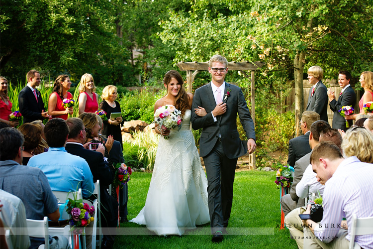 fort collins inn at city park colorado wedding bride and groom just married
