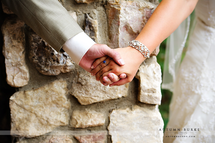 beaver creek chapel allies cabin wedding colorado mountain bride and groom first touch