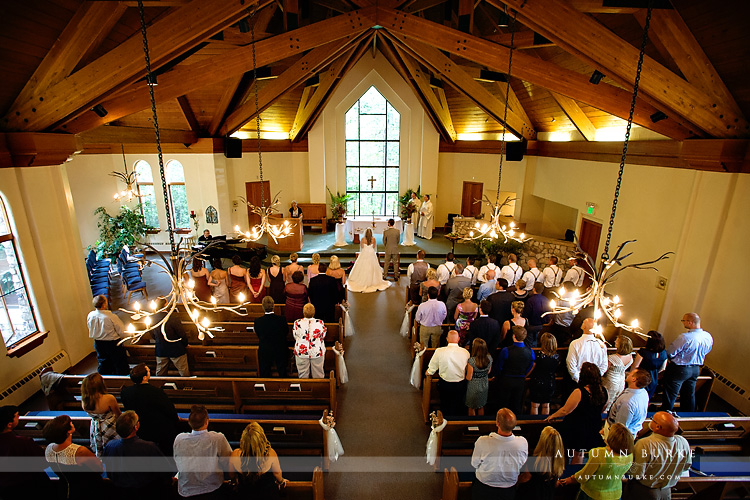 beaver creek chapel catholic wedding ceremony colorado