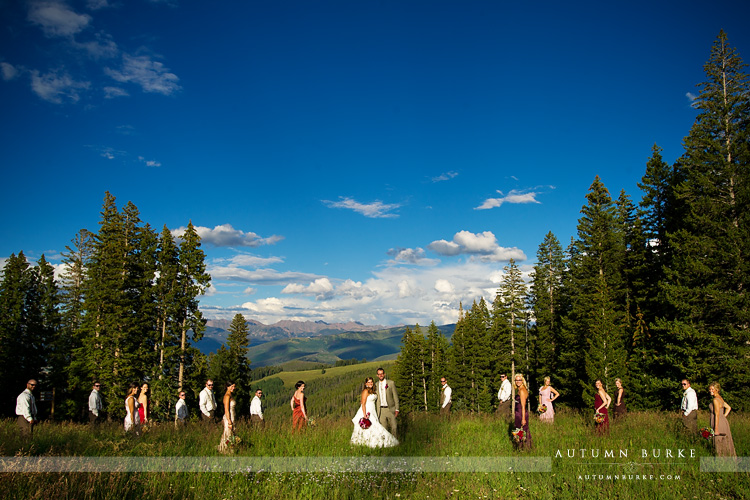beaver creek colorado wedding allies cabin wedding party mountains