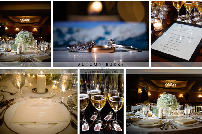 arrabelle wedding details and decor vail colorado mountain