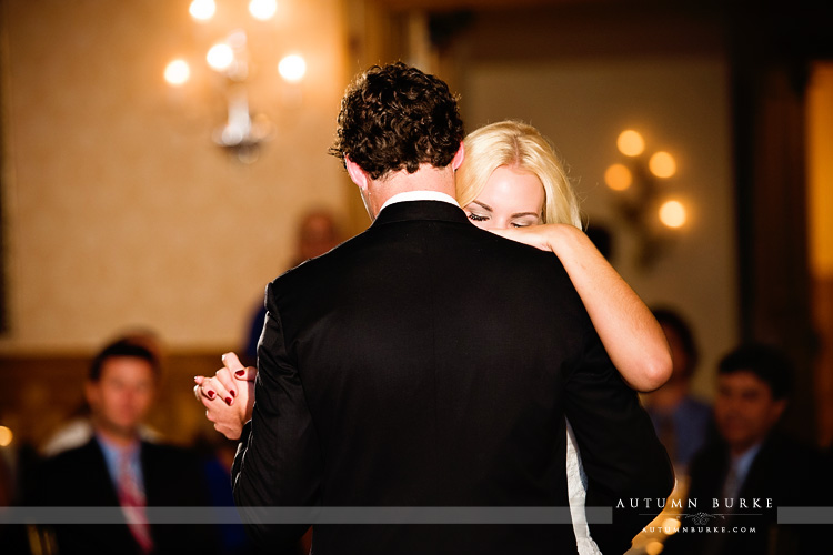 bride and groom vail colorado wedding first dance arrabelle