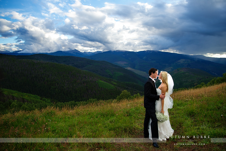 vail wedding deck colorado mountain wedding bride and groom breathtaking view