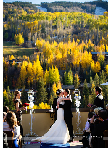 four seasons vail colorado mountain wedding ceremony