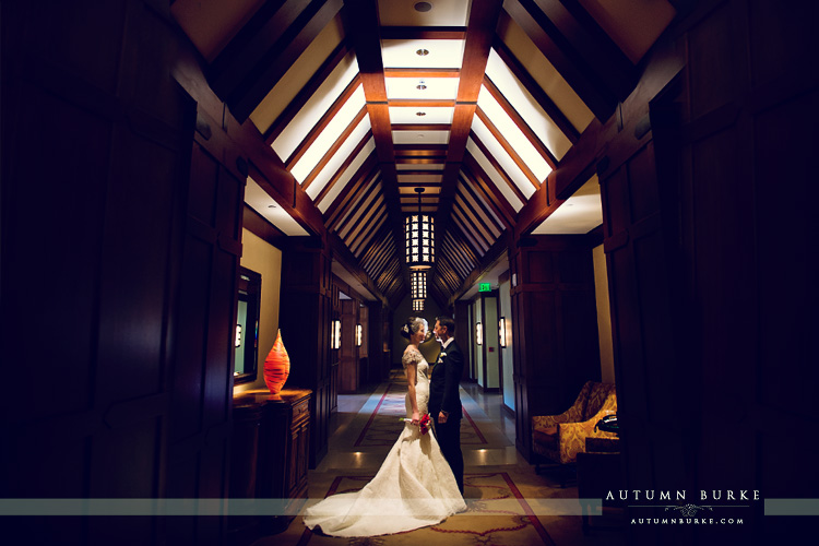 bride and groom four seasons vail colorado wedding
