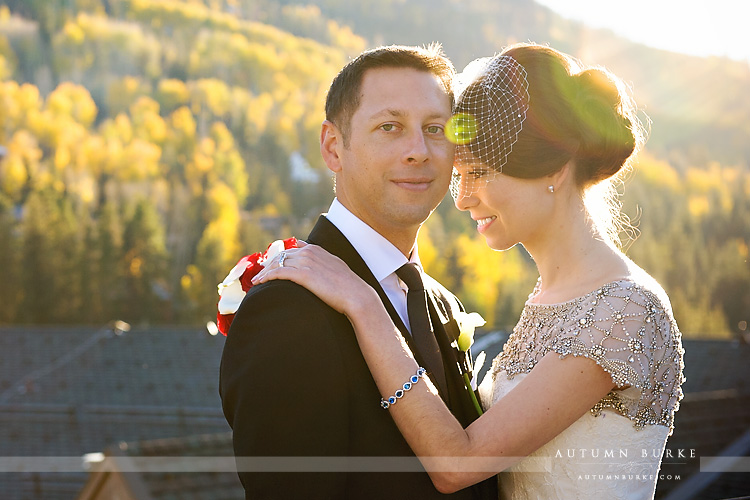 vail four seasons colorado mountain wedding portrait