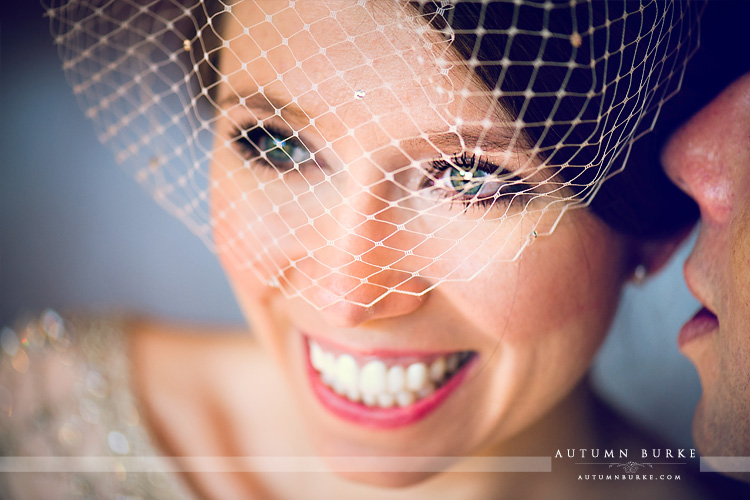 bridal portrait laughing four seasons vail colorado wedding