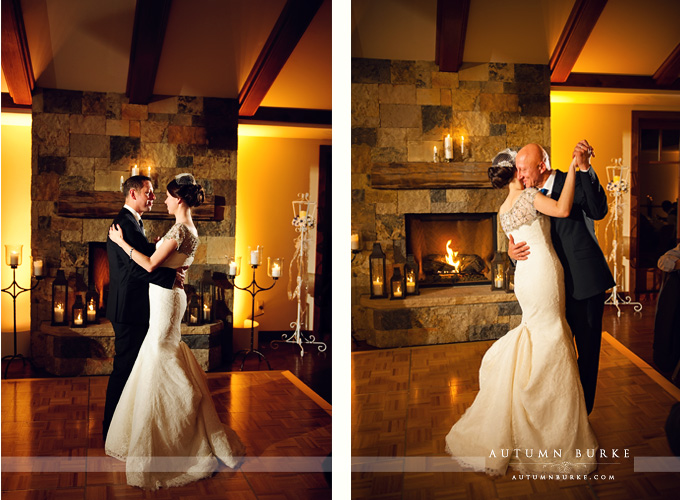 first dance and father daughter dance four seasons vail wedding reception colorado