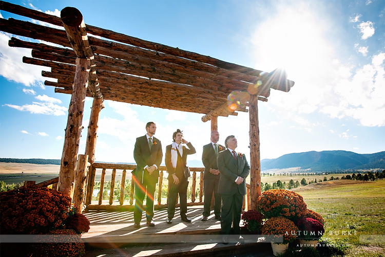 colorado outdoor wedding spruce mountain ranch wedding ceremony