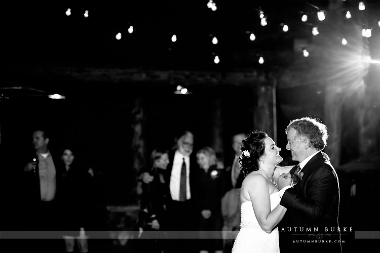 colorado wedding photography spruce mountain ranch first dance bride and groom