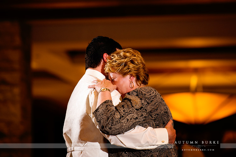 the sanctuary castle pines colorado wedding emotional parent dances mother son