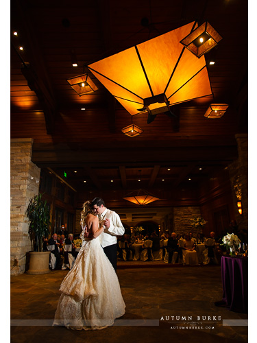 the sanctuary golf club castle pines colorado wedding first dance