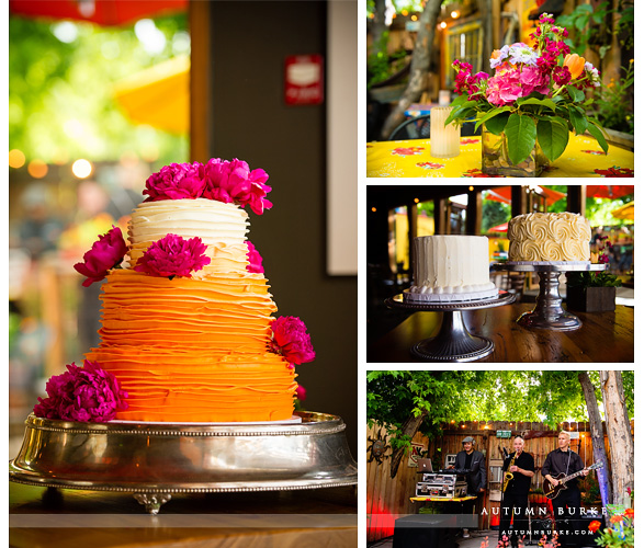 colorado cakes and flowers wedding reception solera denver