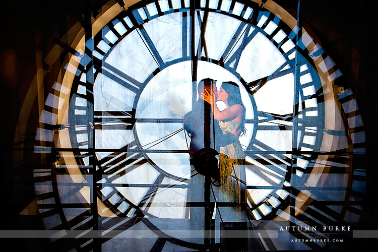 the clocktower historic building downtown denver engagement session artistic